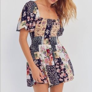 Urban Outfitters Floral Patchwork Romper